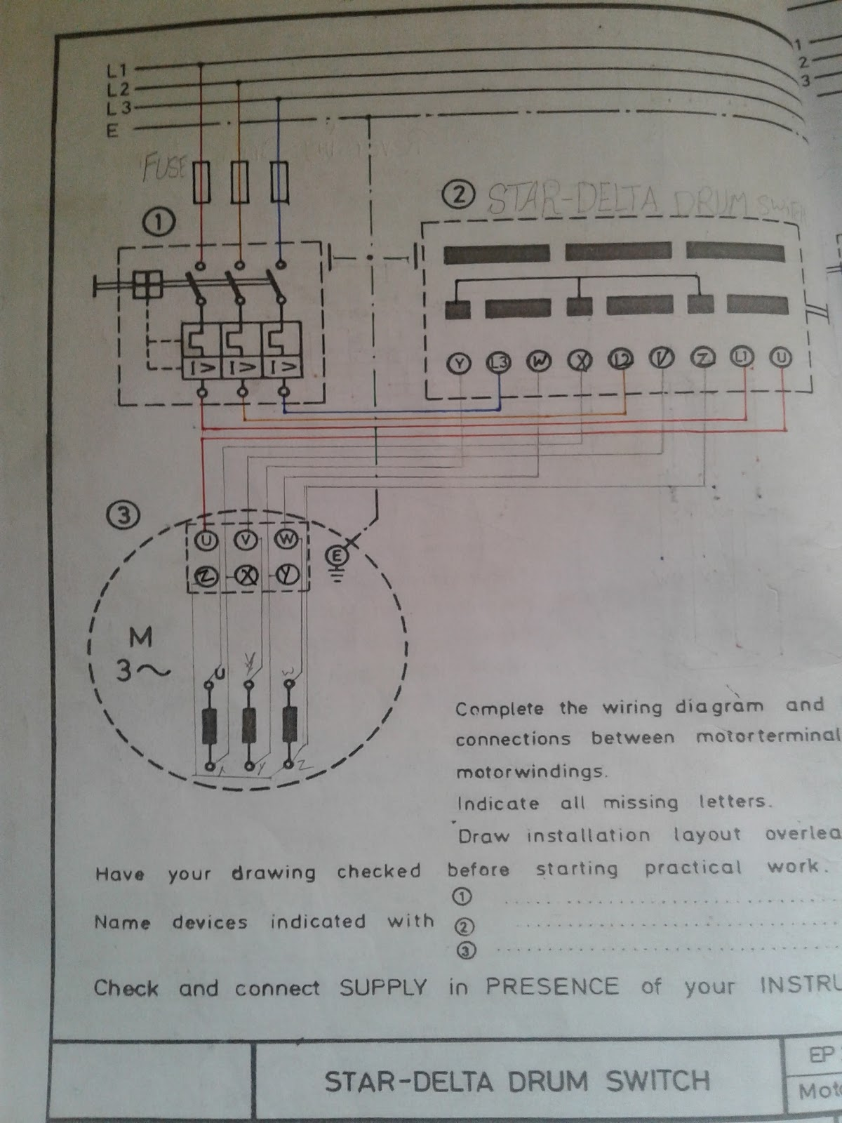 small resolution of motor connection 3 star delta magnet contactor