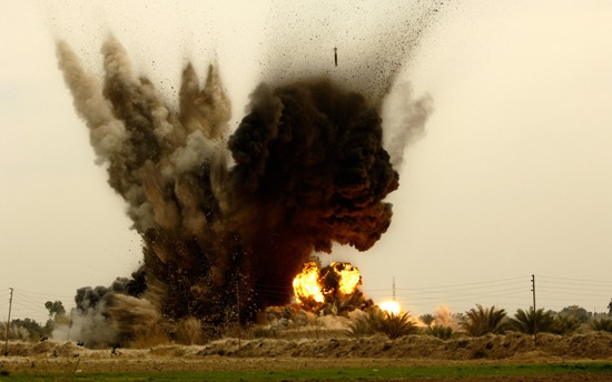Just In: Heavy Bomb Blast Hits Muna Garage