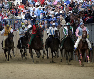 The Palio di Asti is held every September to celebrate a victory over the rival city of Alba in the Middle Ages