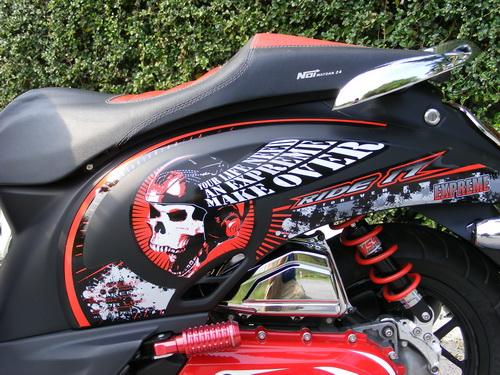 Modif Honda Scoopy Stiker Expreme