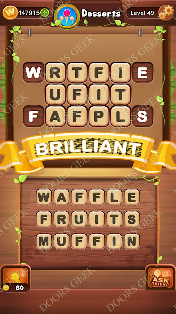Word Bright Level 49 Answers, Cheats, Solutions, Walkthrough for android, iphone, ipad and ipod