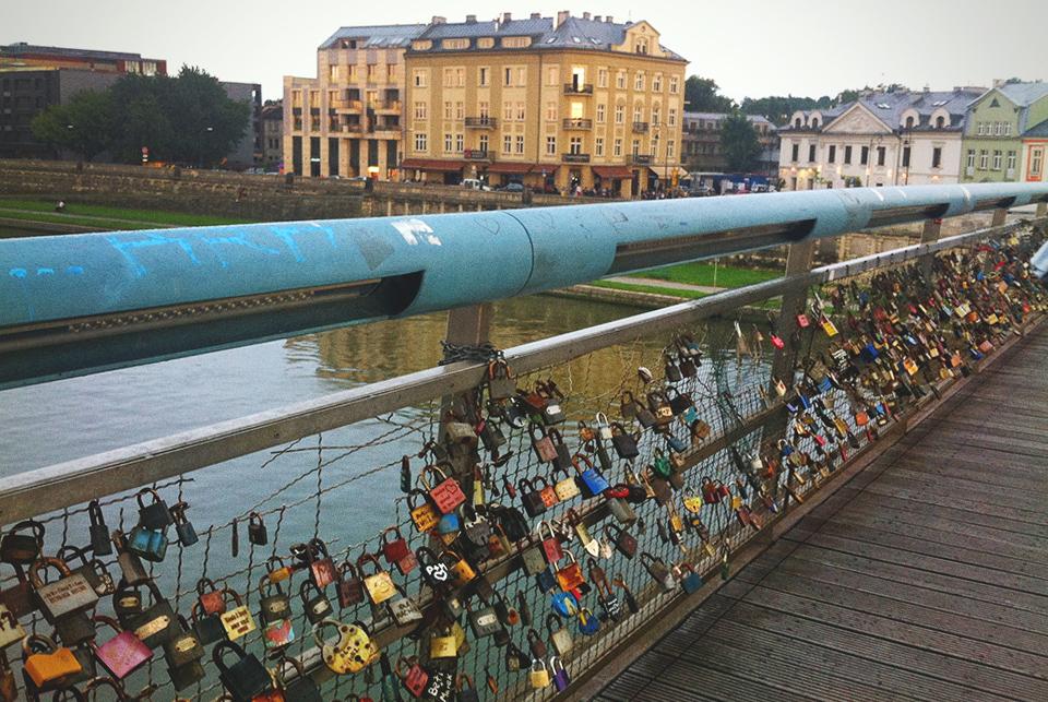 kładka miłości w Krakowie