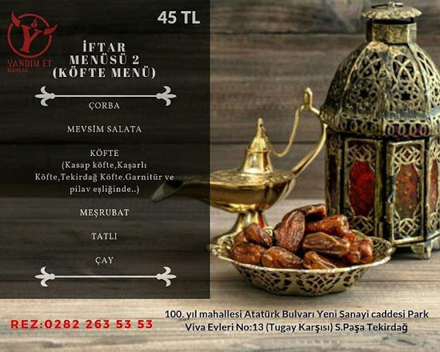 tekirdağ iftar programı tekirdağ iftar restaurant tekirdağ iftar menüsü olan restaurantlar