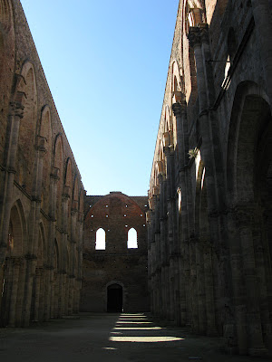 San Galgano abbey's roofless church