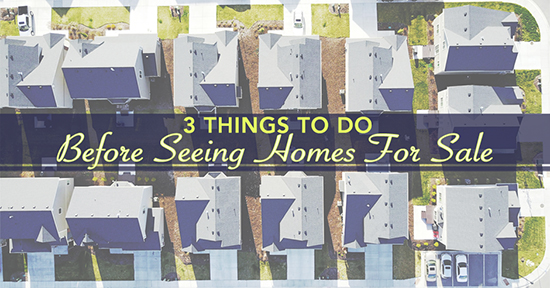 Three Things To Do Before Seeing Homes For Sale
