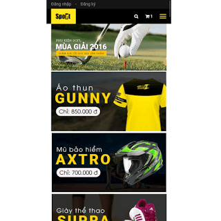 theme blog bán hàng thể thao chuyên nghiệp