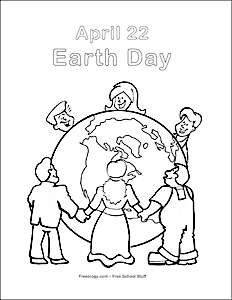 earth day coloring pages 2013 - photo#2
