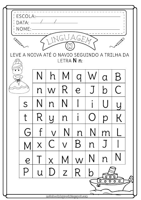 Alfabetização Letra N