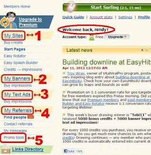 easyhits4upic7 Cara Mudah Daftar dan Meningkatkan Traffic Blog/Web di Easyhits4u