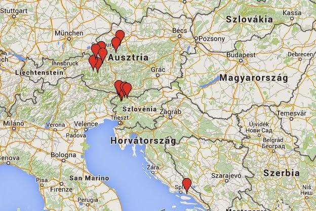 magyarország szlovénia térkép Tipikus Flammeres   Utazás: Autós kirándulás a Vrsic hágón át az  magyarország szlovénia térkép