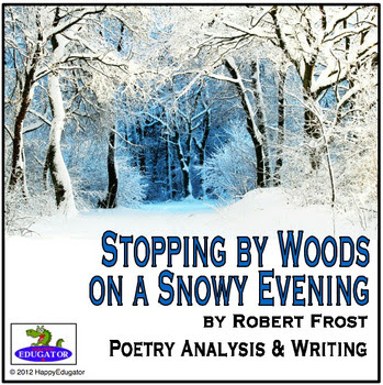 stopping by woods on a snowy evening explication