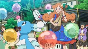 Pokemon Sol y Luna Capitulo 40 Temporada 20 Globos, brionne, y belicosidad