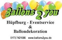 Ballons2you - Hüpfburgverleih - Dekorations- und Veranstaltungsdienstleister in Peine, Verleih von Hüpfburgen, Ballonshop, Geschenkverpackung und Ballondekoration