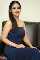 Radhika Mehrotra in sleevless Strap less Blue Gown At Prema Entha Madhuram Priyuraalu Antha Katinam Movie Interview ~  Exclusive 012.JPG