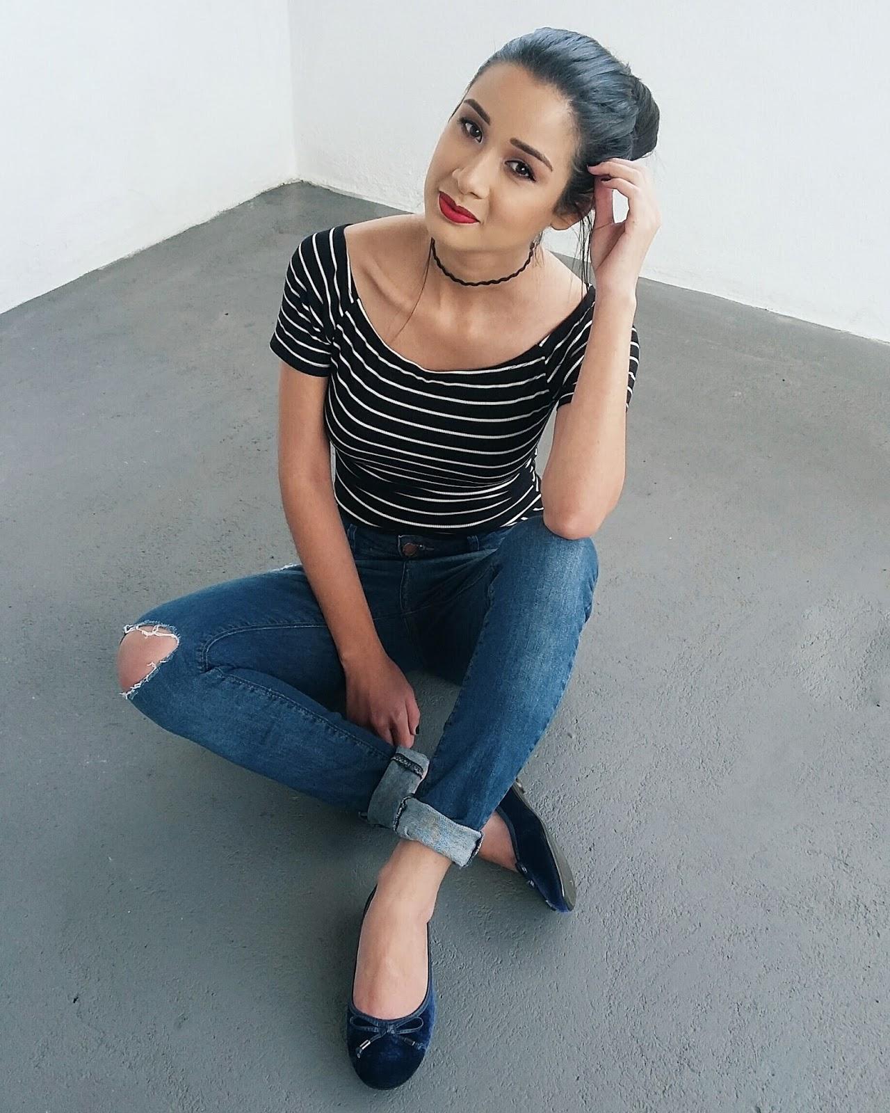 Look do Dia: Calça Jeans + Blusa Listrada