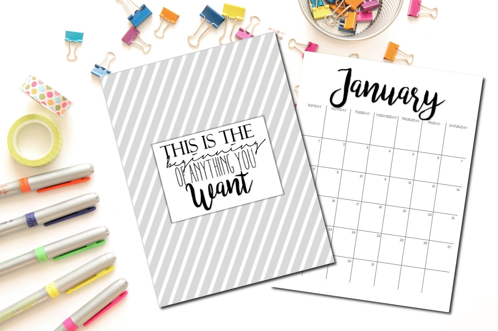 the CUTEST 2016 - 2017 Calendar - To Insanity & Back