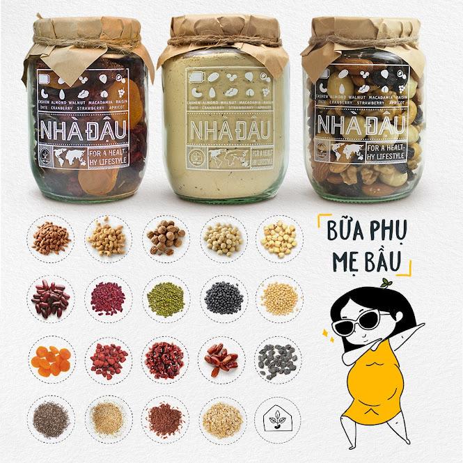 [A36] Mixnuts 5 loại hạt Mẹ Bầu nên ăn trong tháng đầu mang thai