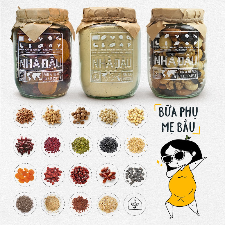 Mixnuts 5 loại hạt Mẹ Bầu nên ăn để Con phát triển toàn diện