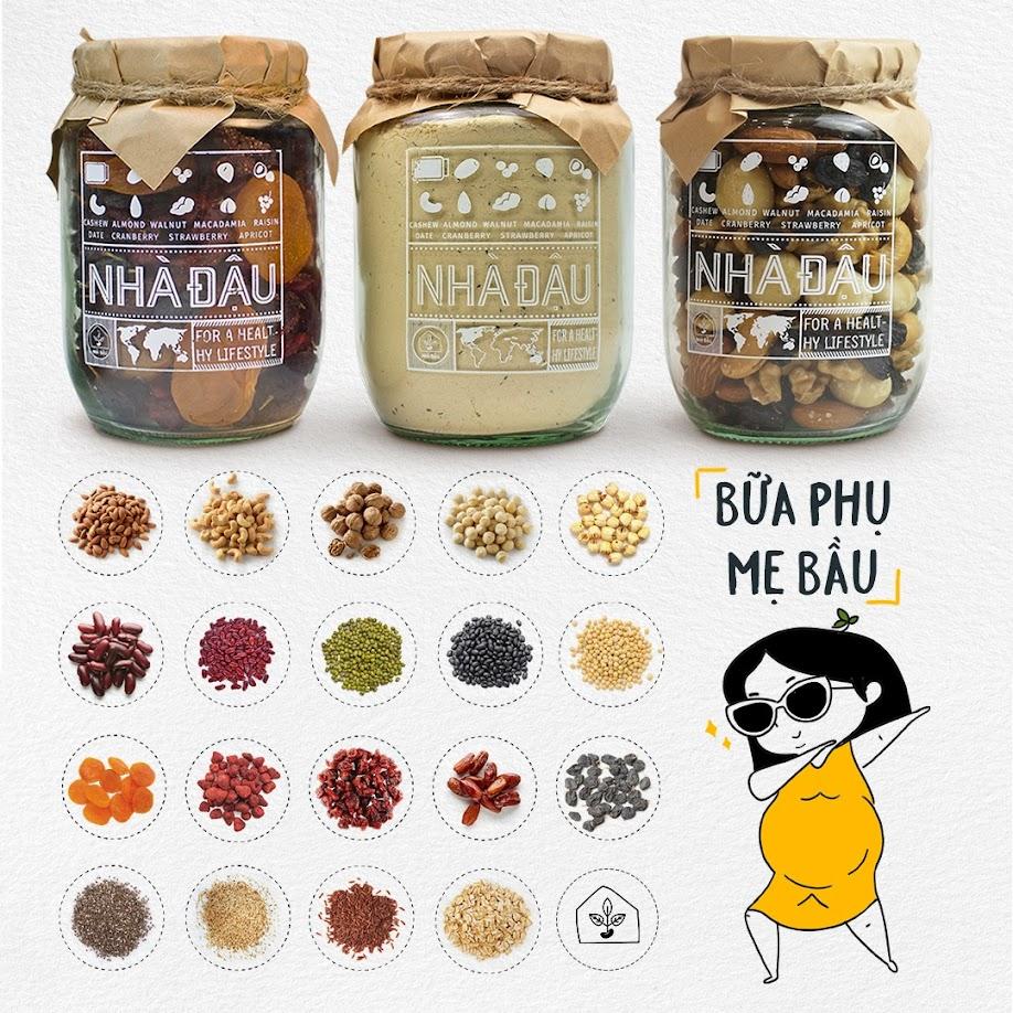 [A36] Mixnuts ăn vặt cho Bà Bầu ăn chay đủ chất