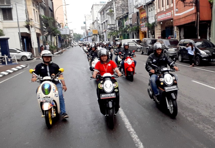 Komunitas Scoopy Medan Nikmati All New Honda Scoopy Trendsetter Day