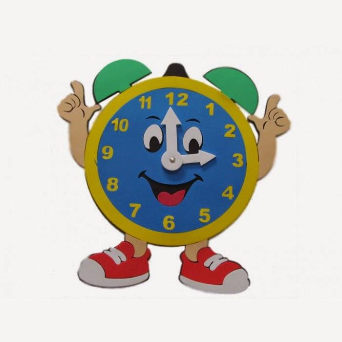 Atividades Para Colorir Infantil: Relógios Feitos De EVA