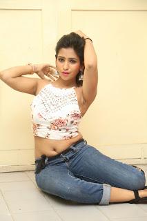 Deekshita Parvathi in a short crop top and Denim Jeans Spicy Pics Beautiful Actress Deekshita Parvathi January 2017 CelebxNext (187).JPG