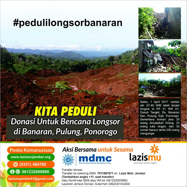 Aksi Donasi Korban Longsor Banaran Ponorogo