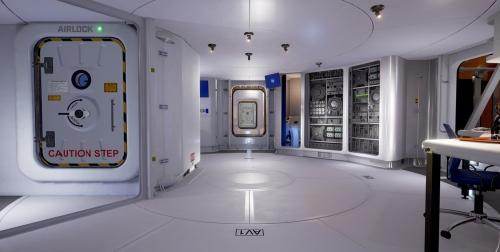 Người chơi có thể tham quan khu môi trường sống nhân tạo, khu trồng trọt bên trong và phòng thí nghiệm khoa học.