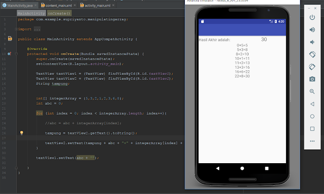 Tutorial Array Pada Bahasa Java di Android