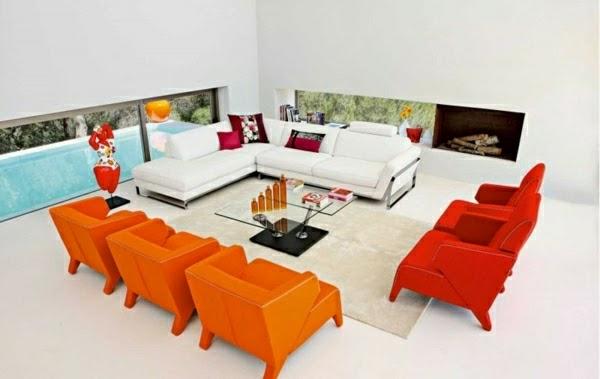 sala acento naranja