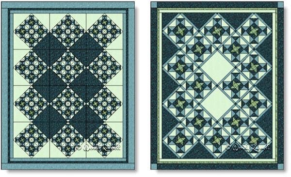 Quilts designed using the PINWHEEL STAR quilt block - images © Wendy Russell