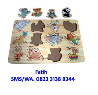 Mainan Anak Puzzle Kayu Sirkus