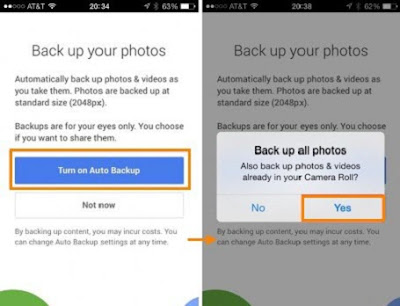 Transfer pictures from Android to Android with Google Plus