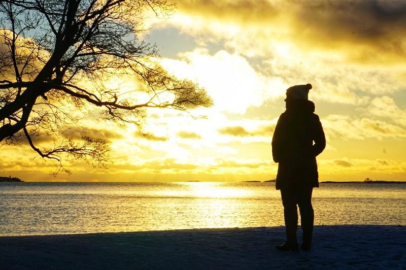 Bloggaaja rannalla