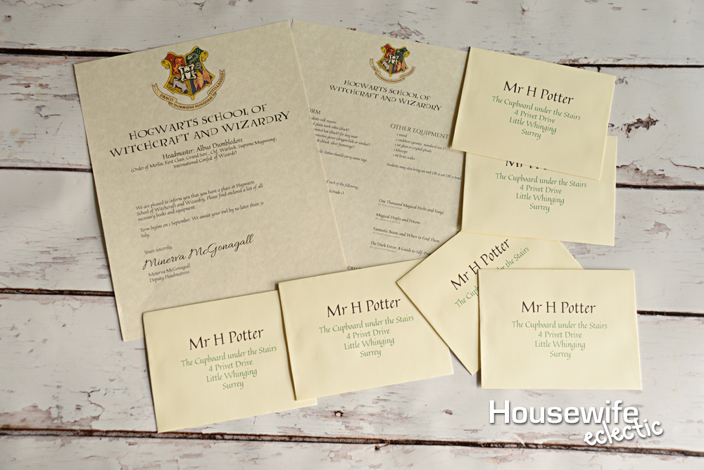 image about Printable Hogwarts Letter identified as Free of charge Printable Hogwarts Letter - Housewife Eclectic