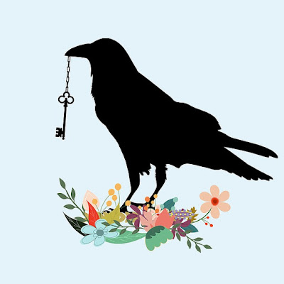 crow with key image