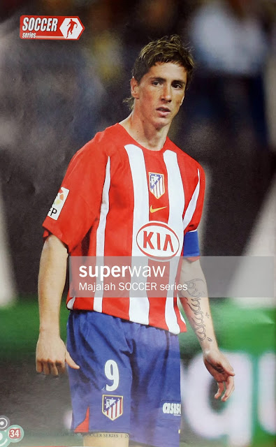 FERNANDO TORRES OF ATLETICO MADRID