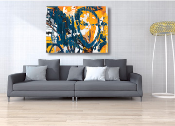 yellow and blue art, yellow and blue abstract art, modern art, contemporary art, abstract urban art, original art, wall art, buy art, art gallery,