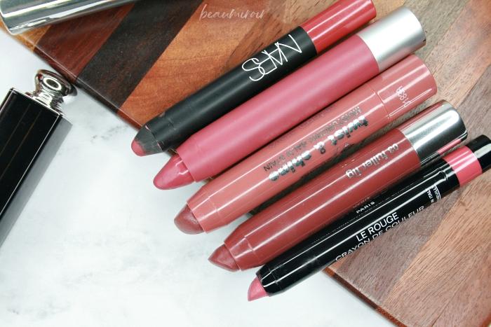 lip crayons chubby stick le rouge crayon de couleur clinique revlon nars