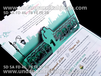 Undangan exclusive Pop Up 3D Hardcover