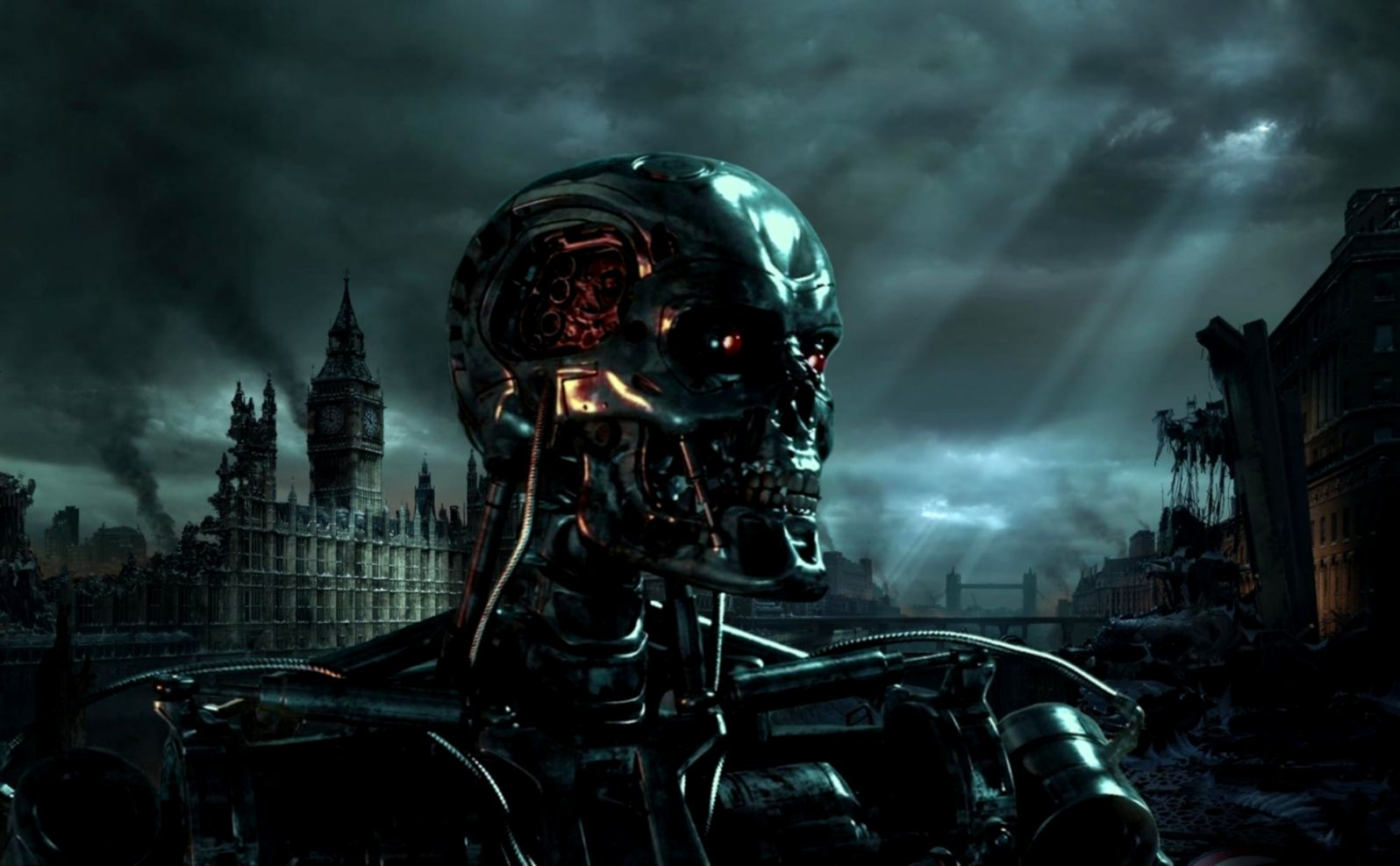 Terminator Skull Wallpaper Genius Wallpapers