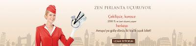 Zen Pırlanta'dan 2500TL ve üzeri alışveriş yapan herkes Avrupa'nın rüya şehirlerine uçak bileti kazanıyor.