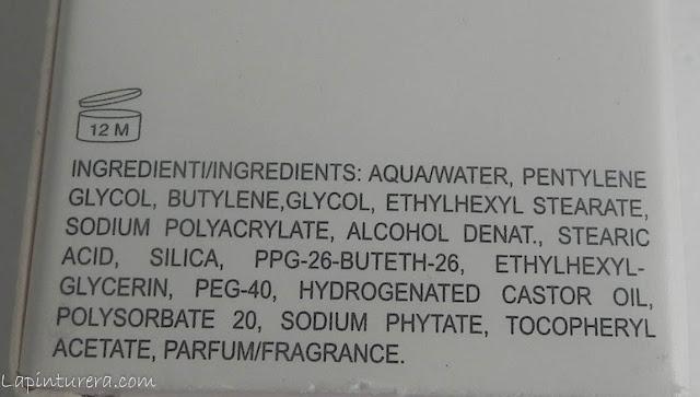 Primer sin siliconas ingredientes
