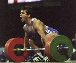 Weightlifting, Naim Süleymanoğlu. Age 50,