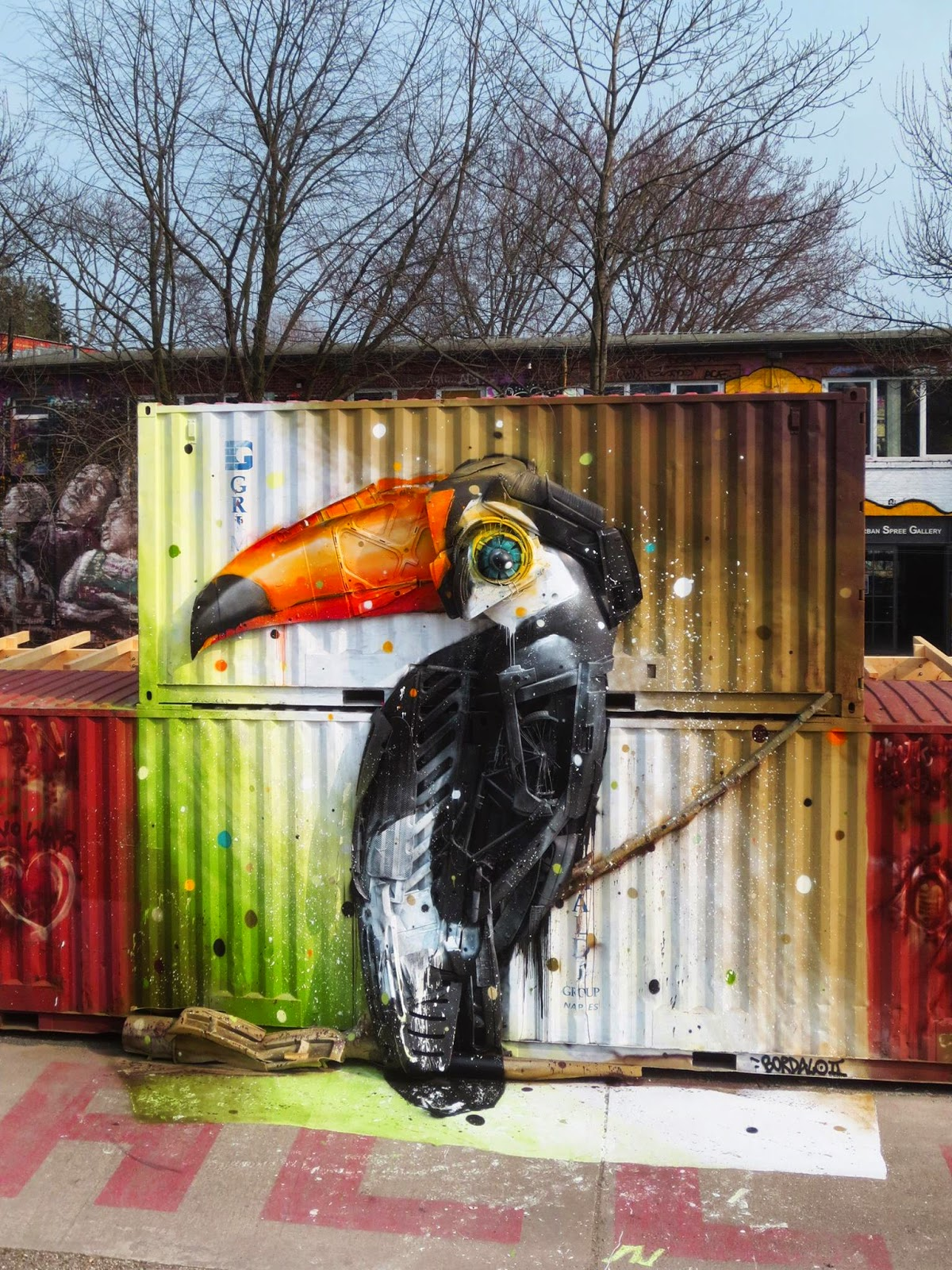 "While we last heard from him earlier this month with ""Grabbit"", Bordalo II is now in Northern Europe where he just finished working on a brand new piece."