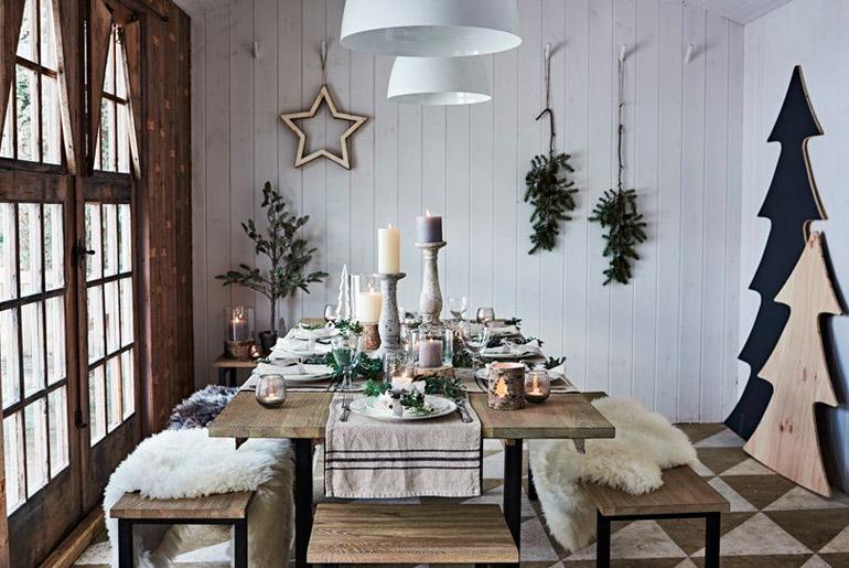 inspiración-mesas-navidad-gris-maderas-tejidos-rusticos-calidez
