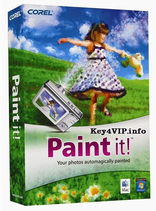 Corel Paint it! 1.0.0.127 Full Key,Phần mềm vẽ ảnh,chuyển ảnh chụp thành tranh vẽ