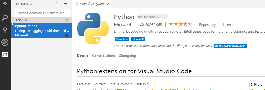 Learn Python with Visual studio code and GIT Bash for Data Science