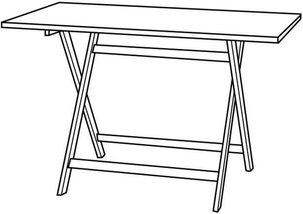 how to draw a folding table step 0