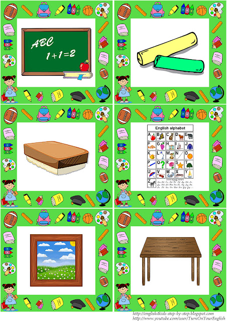school vocabulary flashcards for kids